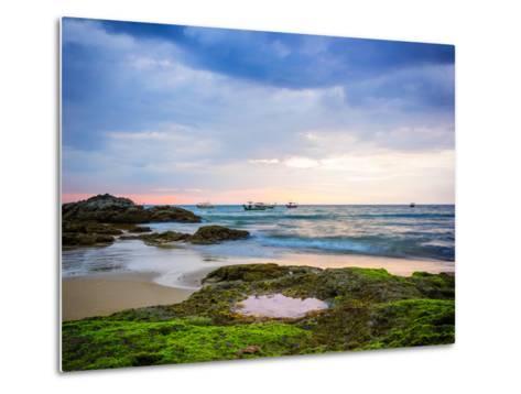 Sunset on Khao Lak Beach in Thailand-Remy Musser-Metal Print