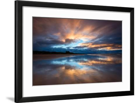 Sunset on the Beach at Bamburgh, Northumberland England UK-Tracey Whitefoot-Framed Art Print