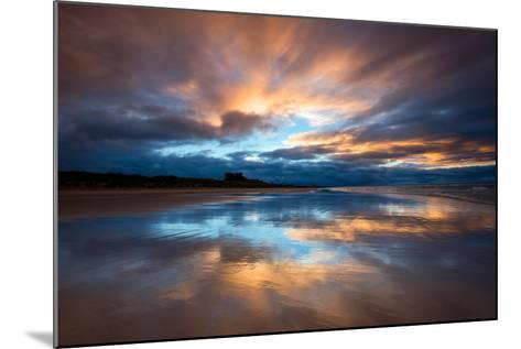 Sunset on the Beach at Bamburgh, Northumberland England UK-Tracey Whitefoot-Mounted Photographic Print