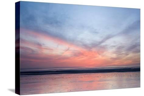 Sunset on Berrow Beach-Don Hooper-Stretched Canvas Print