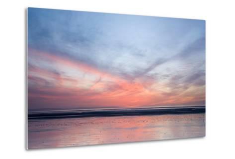 Sunset on Berrow Beach-Don Hooper-Metal Print