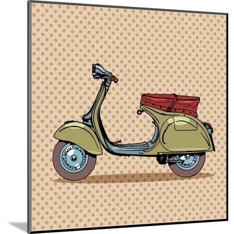 Vintage Scooter Retro Transport-Valeriy Kachaev-Mounted Art Print