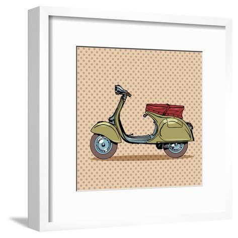 Vintage Scooter Retro Transport-Valeriy Kachaev-Framed Art Print