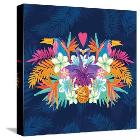 Vivid Tropical Love-James Thew-Stretched Canvas Print