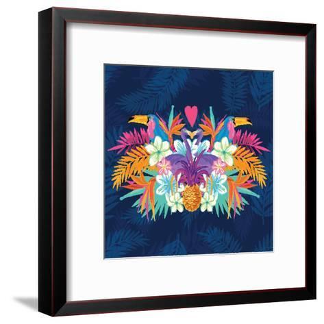 Vivid Tropical Love-James Thew-Framed Art Print