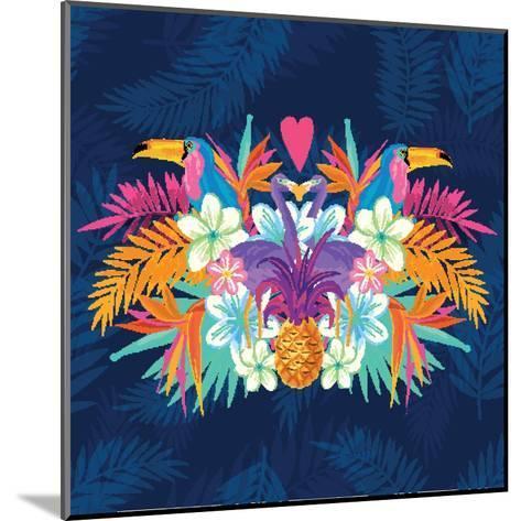 Vivid Tropical Love-James Thew-Mounted Art Print