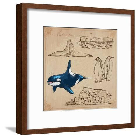 Travel Series: Polar Regions - Antarctica-KUCO-Framed Art Print