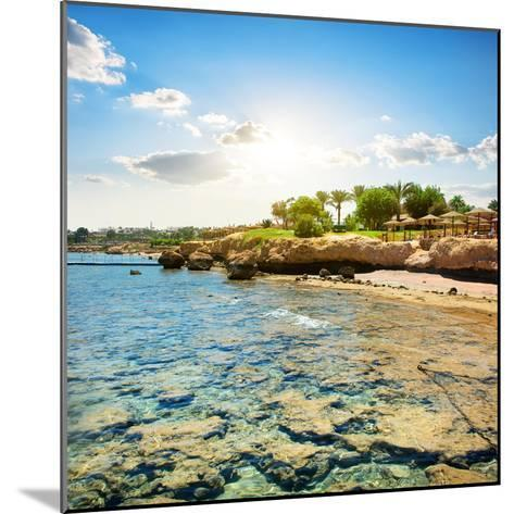 Coral Reefs on the Beach Near Hotel- Givaga-Mounted Photographic Print