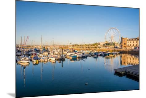 Early Morning Tranquility at Torquay Harbour Devon UK-David Holbrook-Mounted Photographic Print
