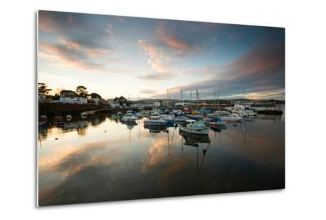 Dusk in the Harbour at Paignton, Devon England UK-Tracey Whitefoot-Metal Print