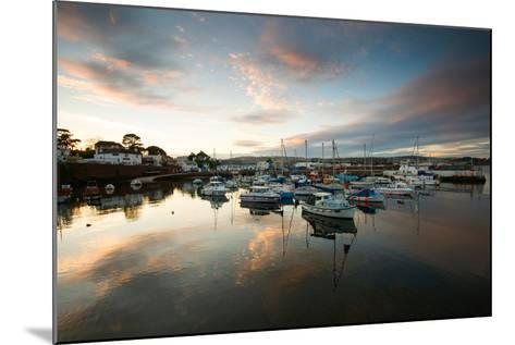 Dusk in the Harbour at Paignton, Devon England UK-Tracey Whitefoot-Mounted Photographic Print