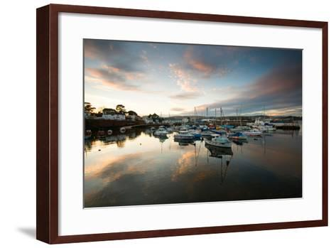 Dusk in the Harbour at Paignton, Devon England UK-Tracey Whitefoot-Framed Art Print