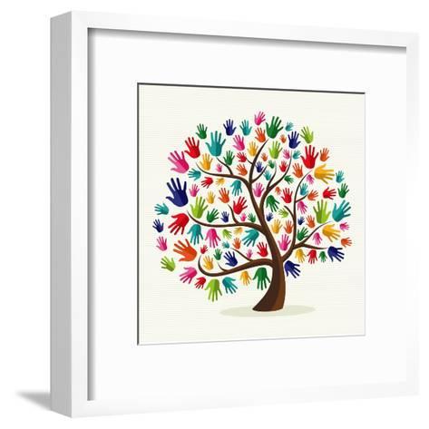 Untitled-Cienpies Design-Framed Art Print