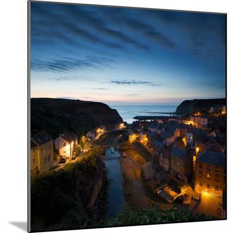 The Fishing Village of Staithes on the Yorkshire Coast, Just before Dawn-John Potter-Mounted Photographic Print