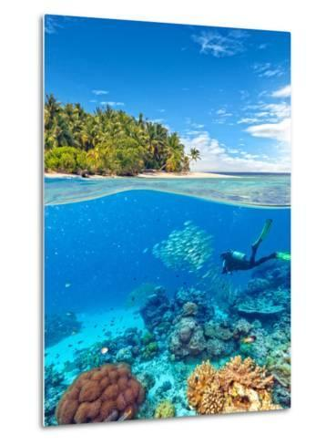 Underwater Photography with Tropical Island-Jakub Gojda-Metal Print