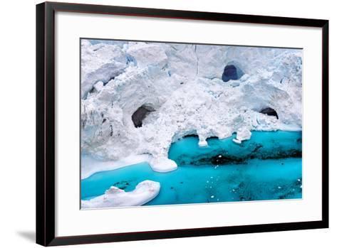 Huge Icebergs are on the Arctic Ocean to Ilulissat Fjord, Greenland-Murat Tellioglu-Framed Art Print