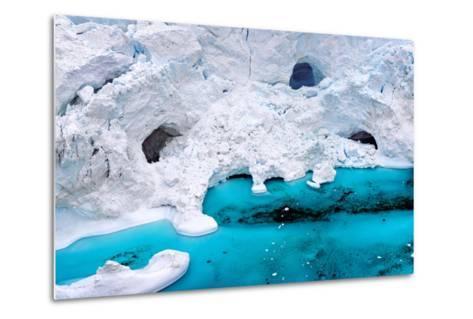 Huge Icebergs are on the Arctic Ocean to Ilulissat Fjord, Greenland-Murat Tellioglu-Metal Print