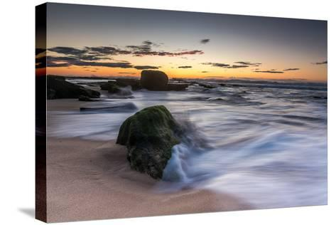 Sunrise at the Beach-A Periam Photography-Stretched Canvas Print