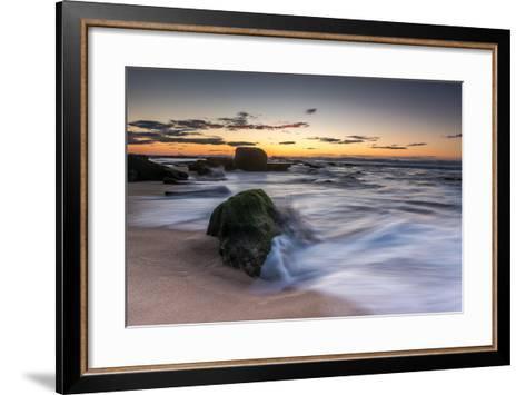 Sunrise at the Beach-A Periam Photography-Framed Art Print