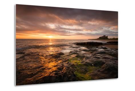 Sunrise on the Beach at Bamburgh, Northumberland UK-Tracey Whitefoot-Metal Print