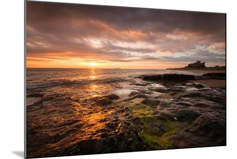 Sunrise on the Beach at Bamburgh, Northumberland UK-Tracey Whitefoot-Mounted Photographic Print