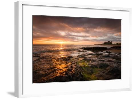 Sunrise on the Beach at Bamburgh, Northumberland UK-Tracey Whitefoot-Framed Art Print