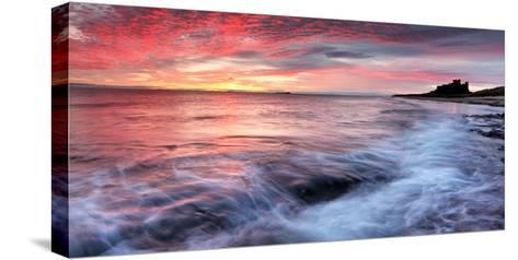 Sunrise over Bamburgh Castle on the Northumberland Coast-Robert Garrigus-Stretched Canvas Print