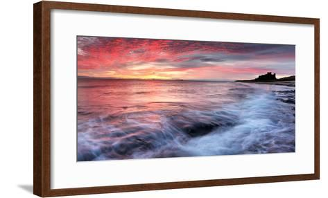 Sunrise over Bamburgh Castle on the Northumberland Coast-Robert Garrigus-Framed Art Print