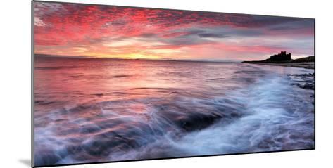 Sunrise over Bamburgh Castle on the Northumberland Coast-Robert Garrigus-Mounted Photographic Print