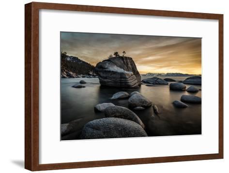 Sunset at Bonsai Rock in Lake Tahoe, Nevada-Raymond Carter-Framed Art Print