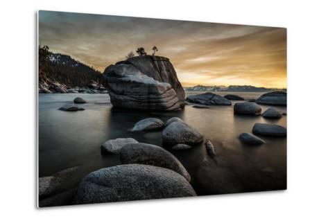 Sunset at Bonsai Rock in Lake Tahoe, Nevada-Raymond Carter-Metal Print