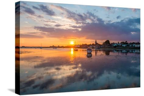 Sunset at Bosham in West Sussex-Chris Button-Stretched Canvas Print