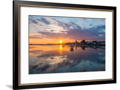 Sunset at Bosham in West Sussex-Chris Button-Framed Art Print