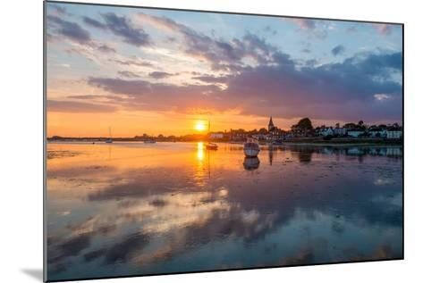 Sunset at Bosham in West Sussex-Chris Button-Mounted Photographic Print