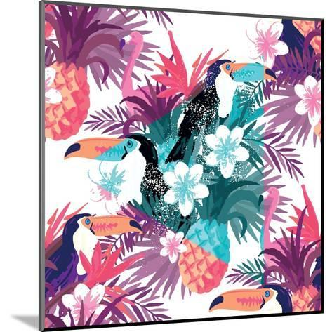Tropical Abstract Vector. Seamless Illustration-James Thew-Mounted Art Print