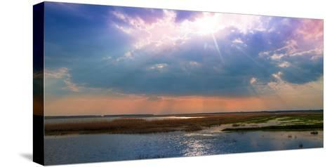 Summer Sunset over the Tranquil Lake-Liviu Pazargic-Stretched Canvas Print