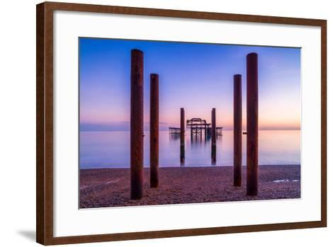 Twilight West Hove-Robert Maynard-Framed Art Print