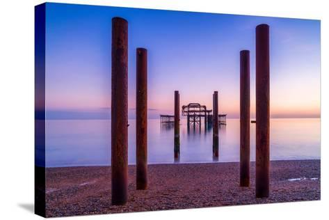 Twilight West Hove-Robert Maynard-Stretched Canvas Print