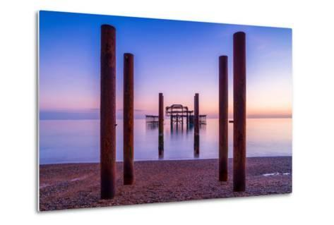 Twilight West Hove-Robert Maynard-Metal Print