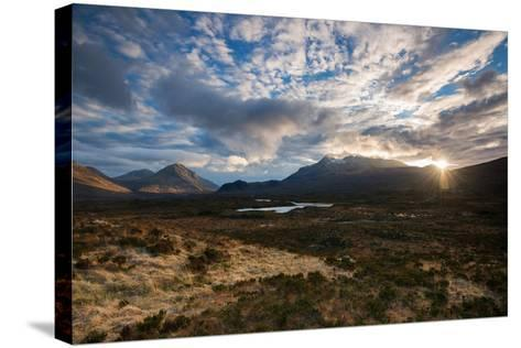 The Black Cuillin at Sligachan, Isle of Skye Scotland UK-Tracey Whitefoot-Stretched Canvas Print