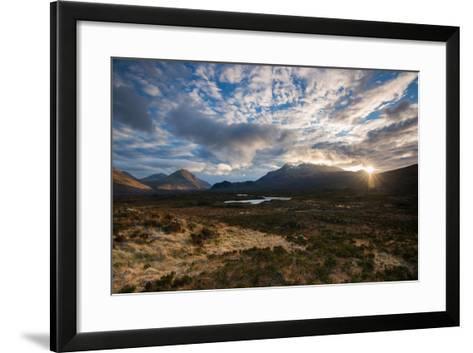 The Black Cuillin at Sligachan, Isle of Skye Scotland UK-Tracey Whitefoot-Framed Art Print