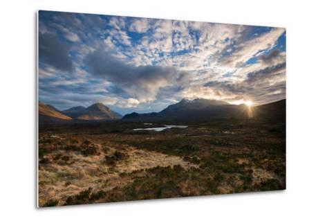 The Black Cuillin at Sligachan, Isle of Skye Scotland UK-Tracey Whitefoot-Metal Print