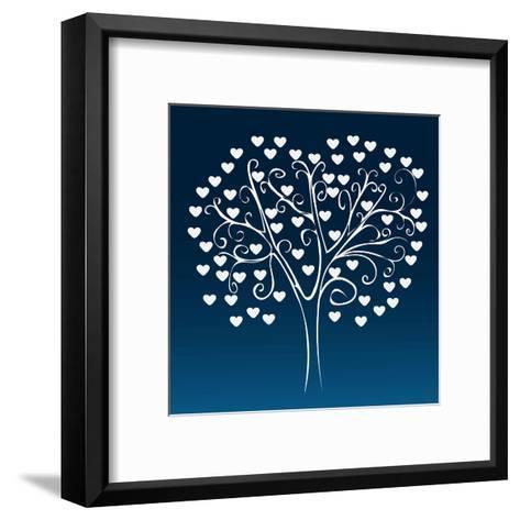 Tree with Hearts-Elena Kozyreva-Framed Art Print