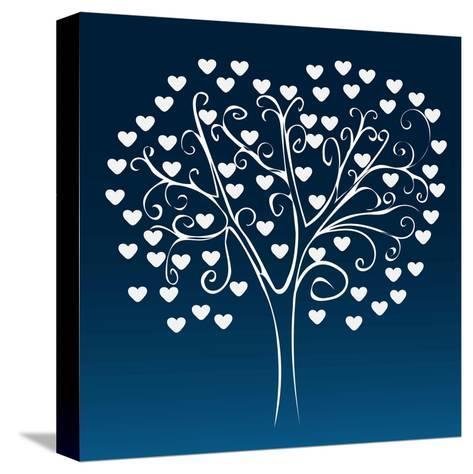 Tree with Hearts-Elena Kozyreva-Stretched Canvas Print