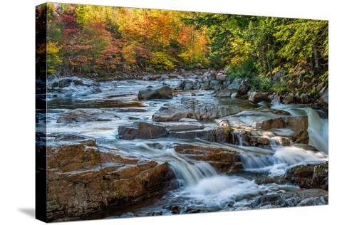 Water Plunges over the Falls on the Swift River at Rocky Gorge, White Mountain National Forest, Nh-Robert K. Olejniczak-Stretched Canvas Print