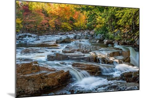 Water Plunges over the Falls on the Swift River at Rocky Gorge, White Mountain National Forest, Nh-Robert K. Olejniczak-Mounted Photographic Print