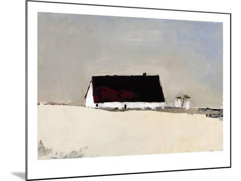 Big Barn and Silos-Sandra Pratt-Mounted Premium Giclee Print
