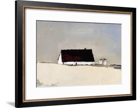 Big Barn and Silos-Sandra Pratt-Framed Art Print