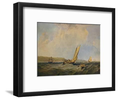 Blowing Hard-Off Cowes, 1834-George Hyde Chambers-Framed Art Print