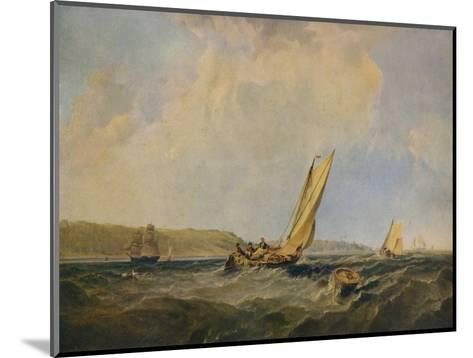 Blowing Hard-Off Cowes, 1834-George Hyde Chambers-Mounted Giclee Print